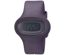 Unisex-Armbanduhr Digital Quarz Kunststoff violett AL25004