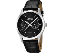Herren-Armbanduhr XL Analog Quarz Leder 15956/3