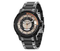 Police Herren-Armbanduhr TROOPER Analog Quarz Edelstahl beschichtet 14382JSB/04M