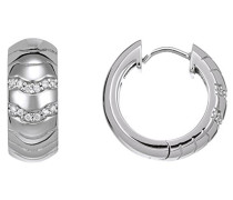 Damen-Creolen 925 Sterling Silber rhodiniert Glas Zirkonia Réalisme weiß S.PCCO90215A000