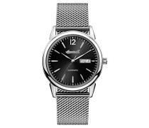 Men's The New Haven Automatic Watch withSchwarz Dial and Silber Stainless Steel Bracelet I00505