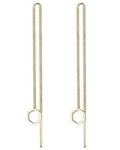 Damen Ohrhänger Hexagon 925 Sterling Silber 0308820216
