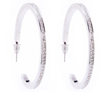 Damen-Creolen Metall Metall Glaskristall KMJ173-01-02