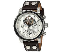 Armbanduhr für Herren mit Analog Anzeige, Automatik-Uhr und Lederarmband - Wasserdichte Herrenuhr mit zeitlosem, schickem Design - klassische Uhr für Männer - BM136-984 Limoges