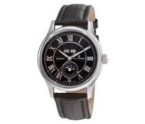 Herren-Armbanduhr MOONPHASE Analog Automatik Leder 16066.2537