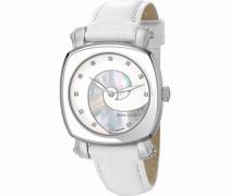 Damen-Armbanduhr Fresque Analog Quarz Leder Swiss Made