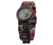 Star Wars Darth Vader Kinder-Armbanduhr mit Minifigur und Gliederarmband zum Zusammenbauen