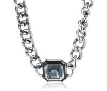 Damen Halskette Metall Acryl 17053008 silber