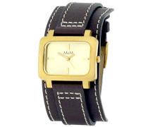 Damen-Armbanduhr Analog Quarz Leder M11607-812