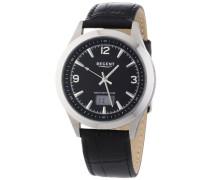 Regent Herren-Armbanduhr XL Analog - Digital Quarz Leder 11030094