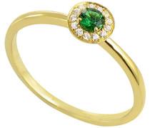 Damen-Ring 9 Karat (375) Gelbgold Smaragd-badm 07060-0001
