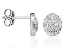 Damen-Ohrstecker 18 Karat (750) Weigold Diamant wei OD-5320