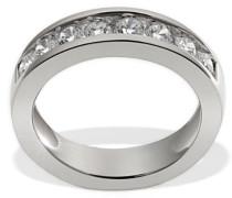 Damen-Ring Silber 925 Memoire 8 klare Zirkonia Kanalfassung Grösse 52 Me R4708S52 Schmuck