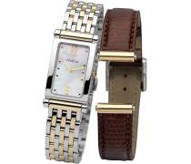 Damen-Armbanduhr Antares austauschbare Women'Watch with Mother of Pearl Dial Analog-Anzeige und Zwei-Ton-Armband Edelstahl vergoldet COF17448/BT19M