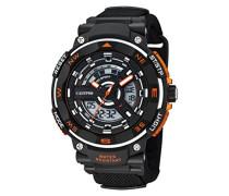 Herren-Armbanduhr analog-digital Plastik Schwarz K5673/1