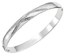 –d11066z–Monogramm–Damen-Armband Edelstahl Zirkonia weiß