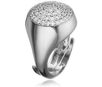 Damen-Ring Hollywood Vergoldet rhodiniert Zirkonia weiß Ringgröße verstellbar - BHOABB14