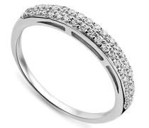 Damen-Ring 925 Sterling Silber Memoire Zirkonia