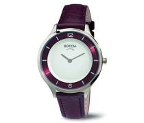 Damen-Armbanduhr Analog Quarz Leder 3249-02