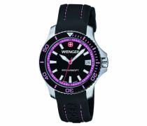Wenger Damen-Armbanduhr Seaforce Analog Quarz Silikon 01.0621.103