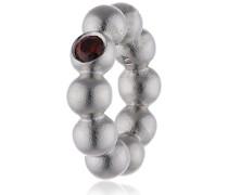 Damen-Bead Garnet Flashy Dot 925 Silber Zirkonia rot - 41207-3
