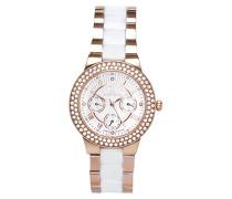 Damen-Armbanduhr Weiß Analog Quarz Premium Keramik Diamanten - STM15S5