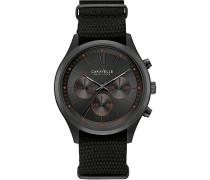 Caravelle New York Herren-Armbanduhr Chronograph Quarz Nylon 45A130