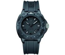 Herren-Armbanduhr XL Analog Quarz Silikon 09LX0201BO