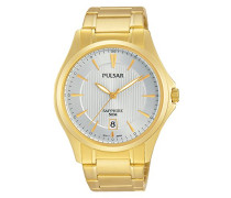 Herren-Armbanduhr Analog Quarz Edelstahl beschichtet PS9384X1