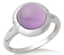 Miore Damen-Ring  375 Weißgold mit Amethyst und 2 Brillanten 0,02ctMG9019RM