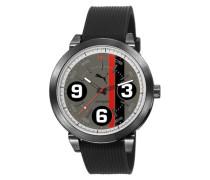 369 Puma Unisex Quarzuhr mit Grau Dial Analog-Anzeige und Schwarz PU Strap PU103361008