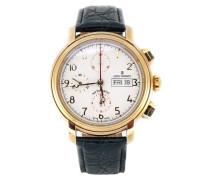 Herren-Armbanduhr XL Chronograph Automatik Leder 17072.6113
