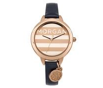 –m1237urg Damen-Armbanduhr 045J699Analog gold–Armband Leder Blau