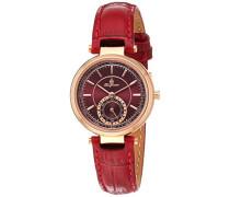 Armbanduhr für Damen mit Analog Anzeige, Quarz-Uhr und Lederarmband - Wasserdichte Damenuhr mit zeitlosem, schickem Design - klassische, elegante Uhr für Frauen - BM336-344 Celina