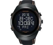 Herren-Armbanduhr  X Digital Quarz Leder PQ2063X1