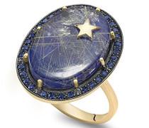 -  14 k (585)  Gelbgold Ovalschliff   blau Lapis Lazuli Saphir
