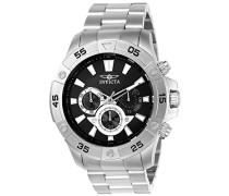 Pro Diver Herren-Armbanduhr Chronograph Quarz Edelstahl - 22786