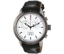 Herren-Armbanduhr XL UDINE Analog Quarz Leder CRA096A212G