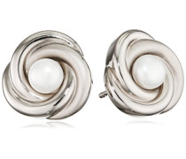Damen-Ohrstecker Titan Perle weiß - 0590-01