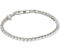 Damen-Armband Eternities 925 Silber rhodiniert Zirkonia Brillantschliff weiß 18.5 cm - 64/0334/1/006