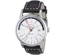 Herren-Armbanduhr XL Magellano Analog Automatik Leder 6069GMT-g3