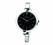 Damen - 116G631, trendige Damen-Armbanduhr Alyce Quarz analog Stahl Silber