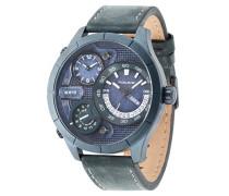 Police Bushmaster Herren Armbanduhr mit Blau Zifferblatt Analog Display und Blau Lederband 14638X SUBL/03