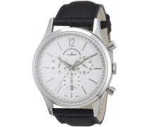 Herren-Armbanduhr XL Quarz Analog Leder 6564-5030Q-i2