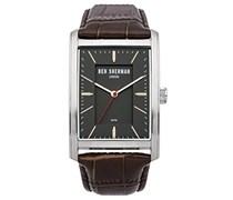 BEN SHERMAN Herren-Armbanduhr Clerkenwell Professional Analog Quarz Leder WB013E