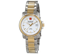 Damen-Armbanduhr XS SWISS RECRUIT LADY PRIME Analog Quarz Edelstahl beschichtet 06-7044.1.55.001