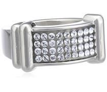 Damen-Ring Versilbertes Metall Kristall Swarovski