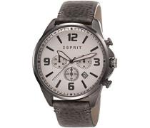 Herren-Armbanduhr Clayton Chronograph Quarz Leder ES108001003