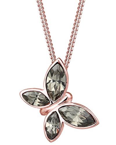 Premium Halskette Schmetterling Swarovski Kristalle 925 Silber rosé 0112810916