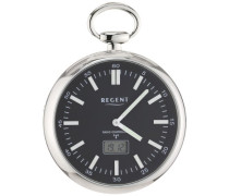 Regent Herren-Taschenuhr XL Analog - Digital Quarz 11280065